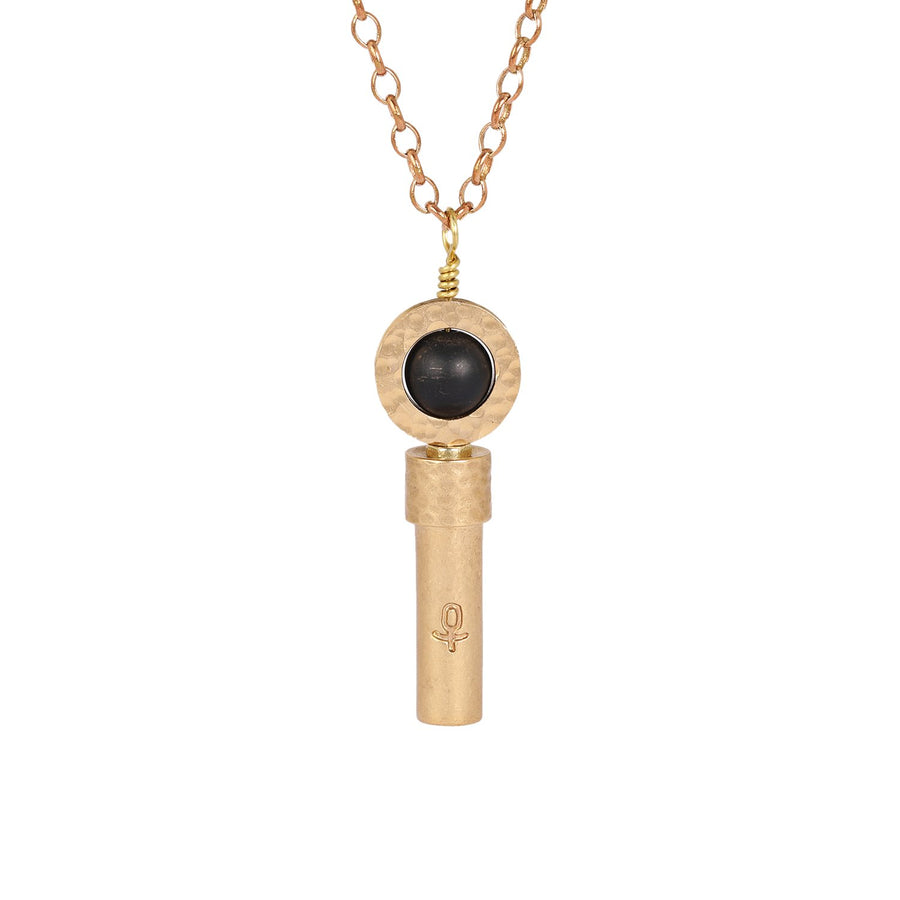 Matte Black Onyx Necklace