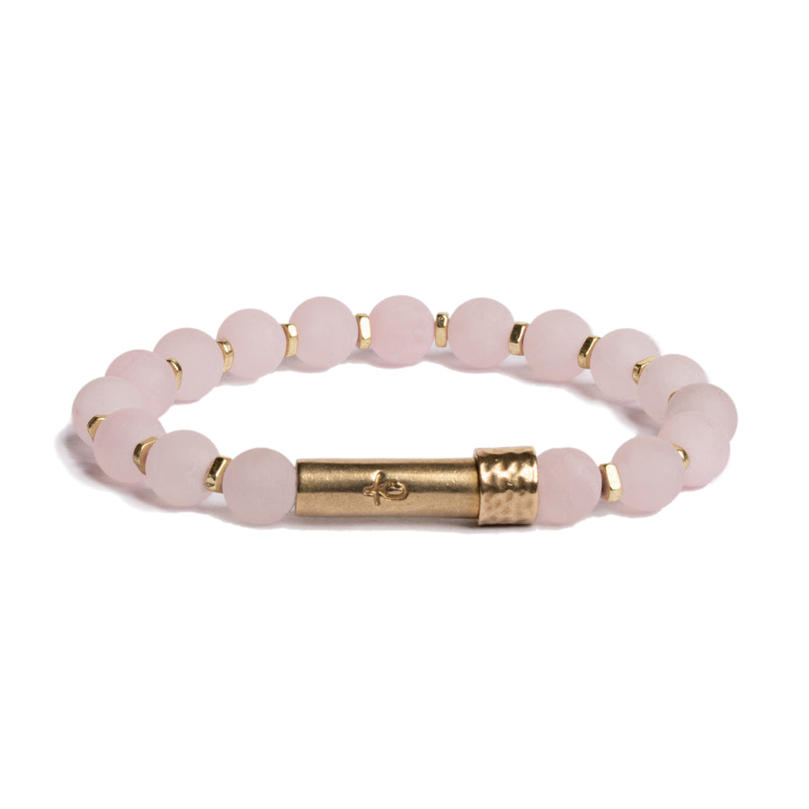 Matte Rose Quartz Shine Bracelet