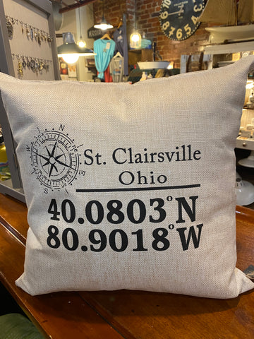 St. Clairsville Coordinate Pillow