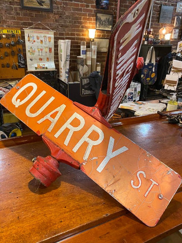 DOUBLE SIDED STREET SIGN - Three Labs Salvage