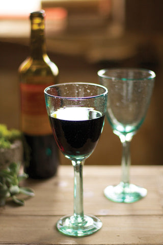 Wine Glass - Recycled glass