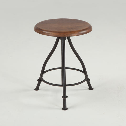"INDUSTRIAL LOFT STOOL 13"" , WALNUT - Three Labs Salvage"