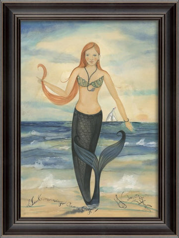 GOOD MORNING OCEAN CITY MERMAID Framed Print