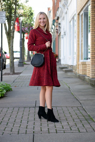 EMPORIUM COAT BY EFFIE'S HEART IN RED