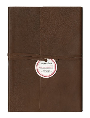 Brown Leather Journalino Slim by Cavallini Paper Company