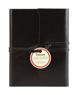 Black Leather Toscana Journal by Cavallini Paper Company
