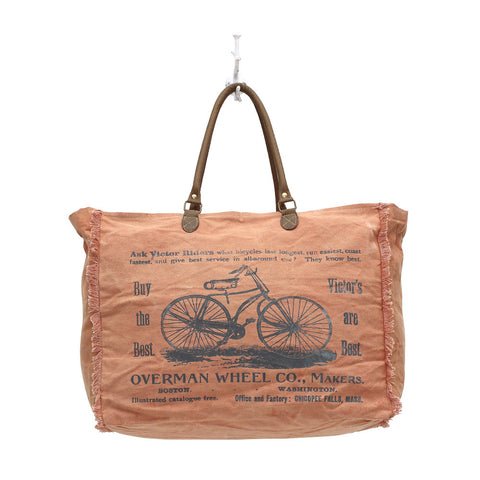Myra BY-CYCLE PRINT WEEKENDER BAG - Three Labs Salvage