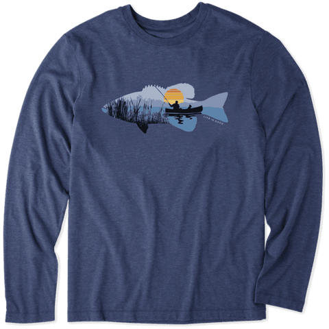 MEN'S FISHING VISTA LONG SLEEVE COOL TEE BY LIFE IS GOOD
