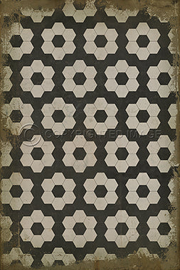 Resonance Vintage Vinyl Floorcloth - Three Labs Salvage