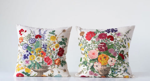 Set of Two Embroidered Pillows