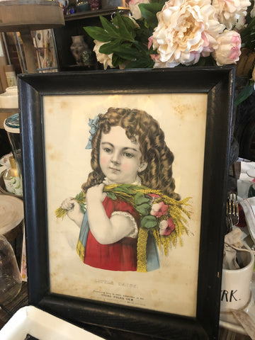 Little Daisy Framed Lithograph - Three Labs Salvage