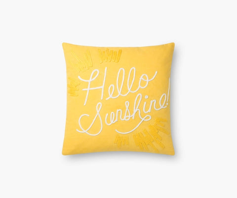 Hello Sunshine Embroidered Pillow