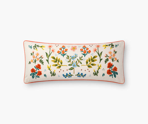 Wildflower Embroidered Pillow - Three Labs Salvage