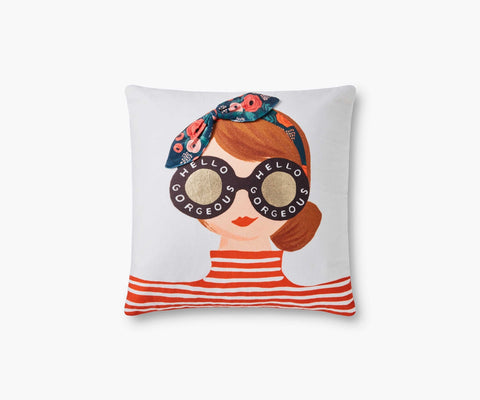 Hello Gorgeous Girl Embellished Pillow