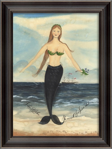 PRUDENCE ISLAND Mermaid Framed Print - Three Labs Salvage