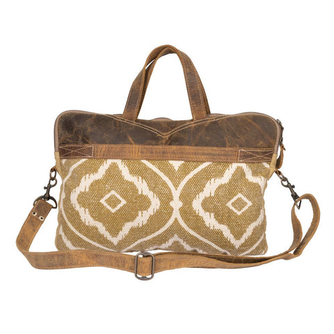 MYRA MOLTEN CANVAS MESSENGER BAG
