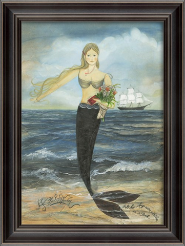 ALL HER DAYS Mermaid Framed Print - Three Labs Salvage