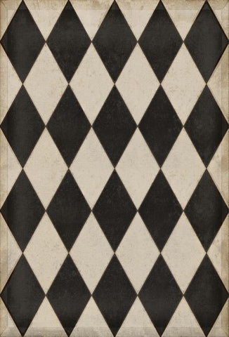 Williamsburg Diamond Vintage Vinyl Floorcloth