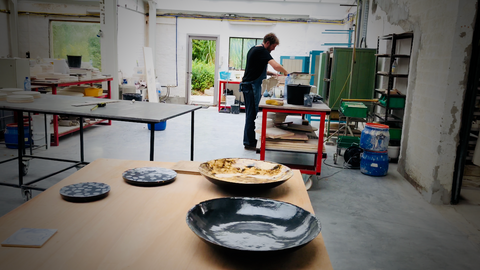 Jonas De Knock at work Exclusive Ceramic Bowls & Plates