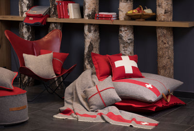 Arpin Exclusive Wool Beanbag - The Alps in a Giant Cushion.