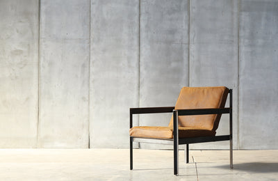 "Heerenhuis - Handmade Armchair ""Cargo"" Leather & Metal."