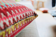"ISA - Handmade Exclusive Cushion - ""Colourful Geranium"""