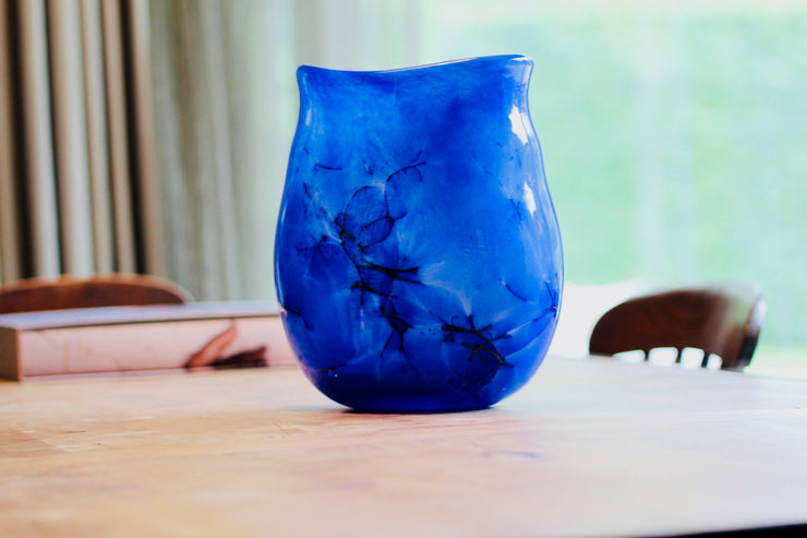 Raimonds Cirulis - Handmade Blue Basalt & Glass Vase