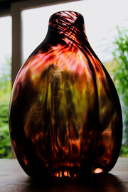 Raimonds Cirulis - Amazing Handmade Glass Vase, Bionic Brown.