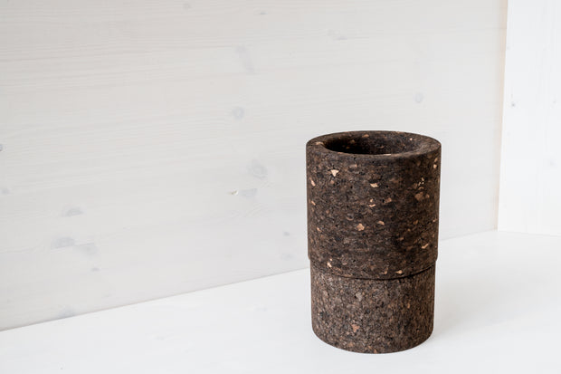 Studio Corkinho - Natural Design Cork Vase - Mother Cylinder High.