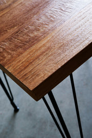 "Heerenhuis - Handcrafted Coffee Table ""Sputnik"", Metal & Reclaimed Teak."