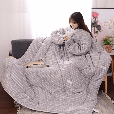 Winter Lazy Blanket with Sleeves