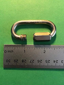 "Stainless Steel 316 Quick Link 1/4"" (6mm) Marine Grade"