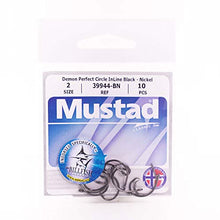 Mustad Classic 39944 Standard Wire Demon Perfect In Line Wide Gap Circle Hook | Saltwater Freshwater hooks for Tuna, Catfish, Bass and more