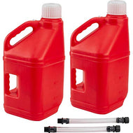 2 Pack of Jugs-Speedway Motors Racing Utility Jugs w/Filler Hose, Red, 5 Gallon, Pair