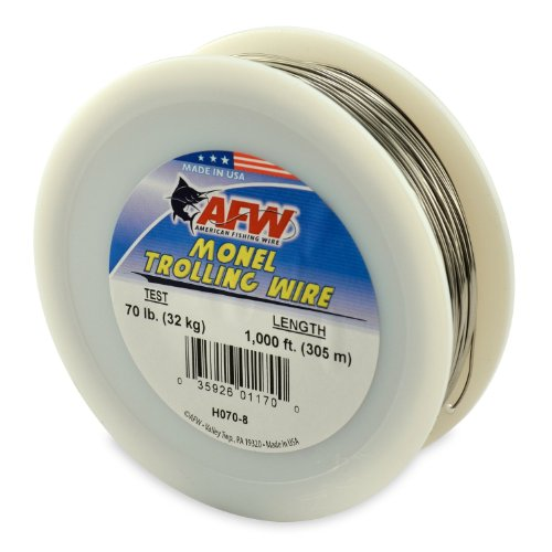 American Fishing Wire Monel Trolling Wire (Single Strand), Bright Color, 50 Pound Test, 300-Feet