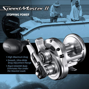 SHIMANO SpeedMaster 2 Speed Lever Drag Saltwater Fishing Reel, Right Hand Retrieve
