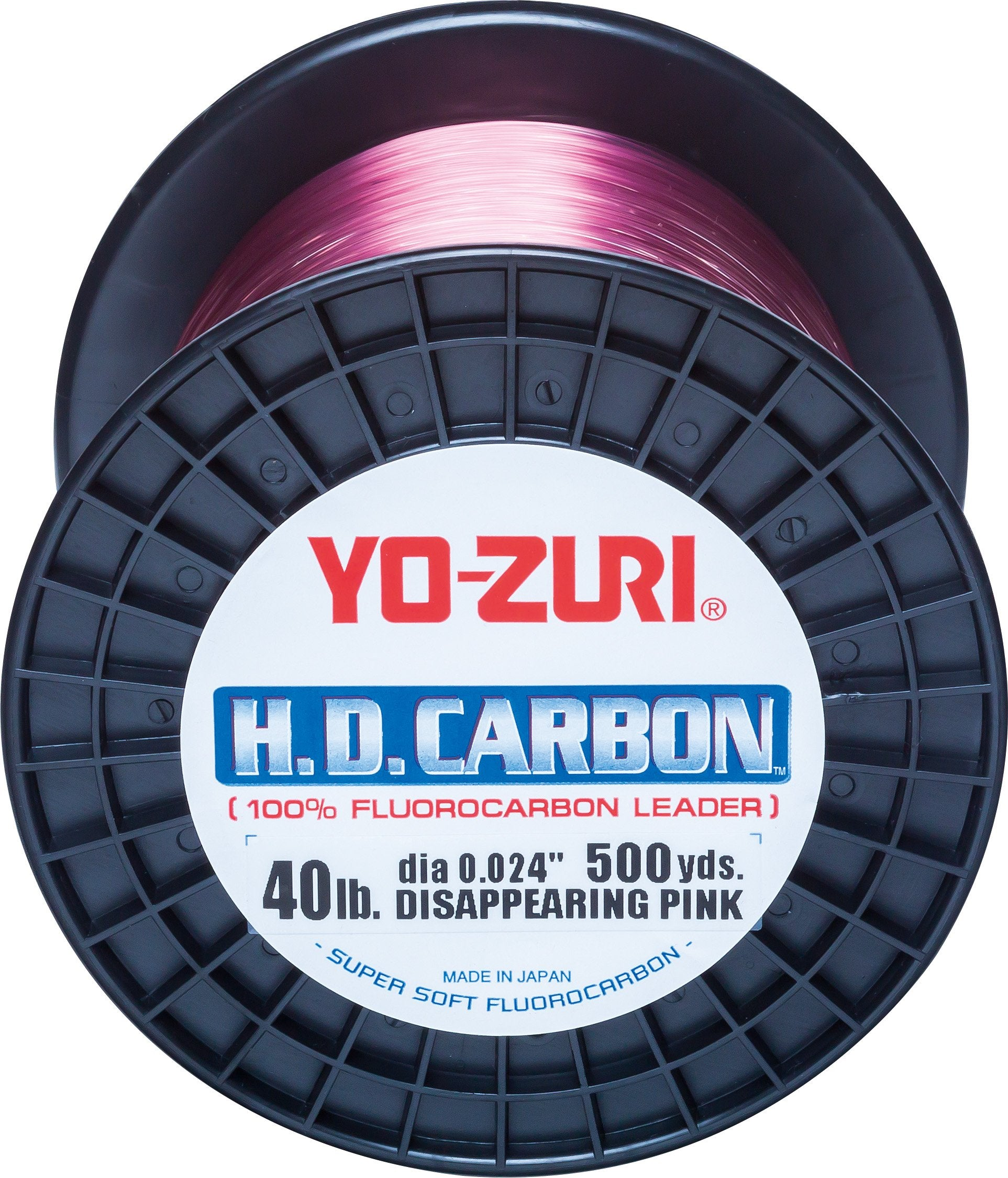 Yo-Zuri H.D.Carbon Fluorocarbon 100% Leader 500Yds 40Lbs 458M (0.602mm) Disappearing Pink