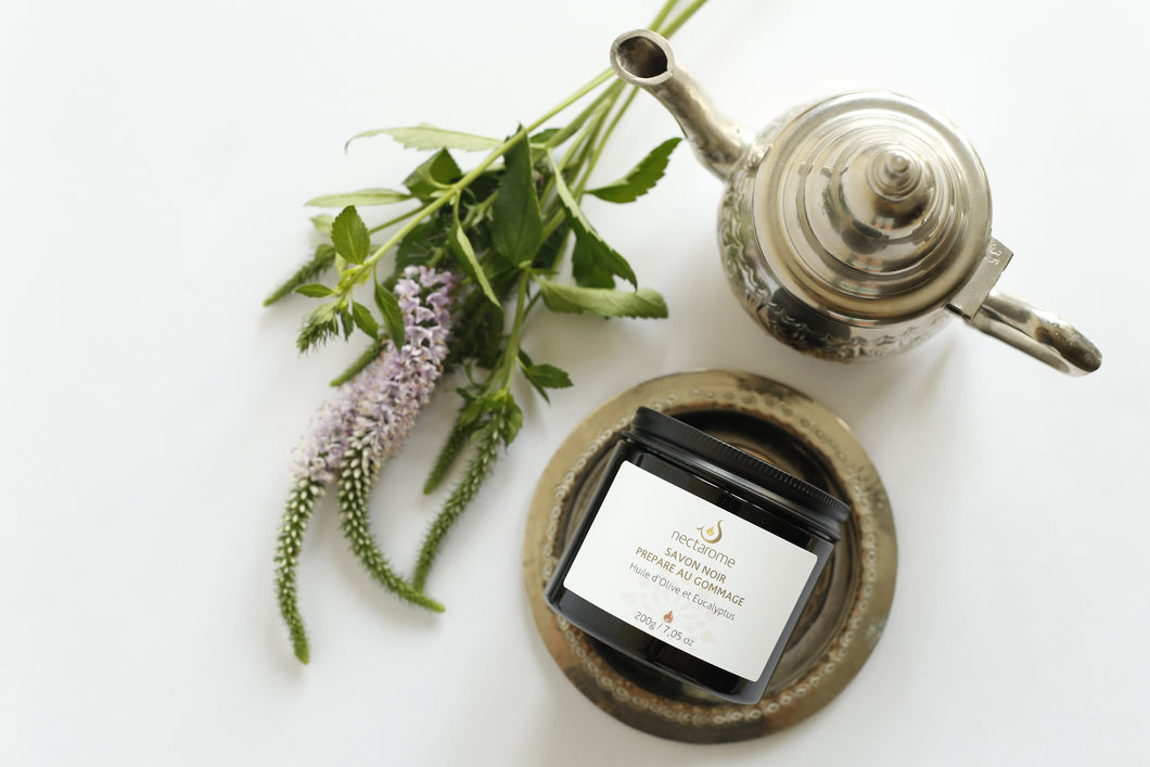 Black Soap - Olive Oil and Eucalyptus 磨砂黑肥皂(橄欖油, 尤加利葉)