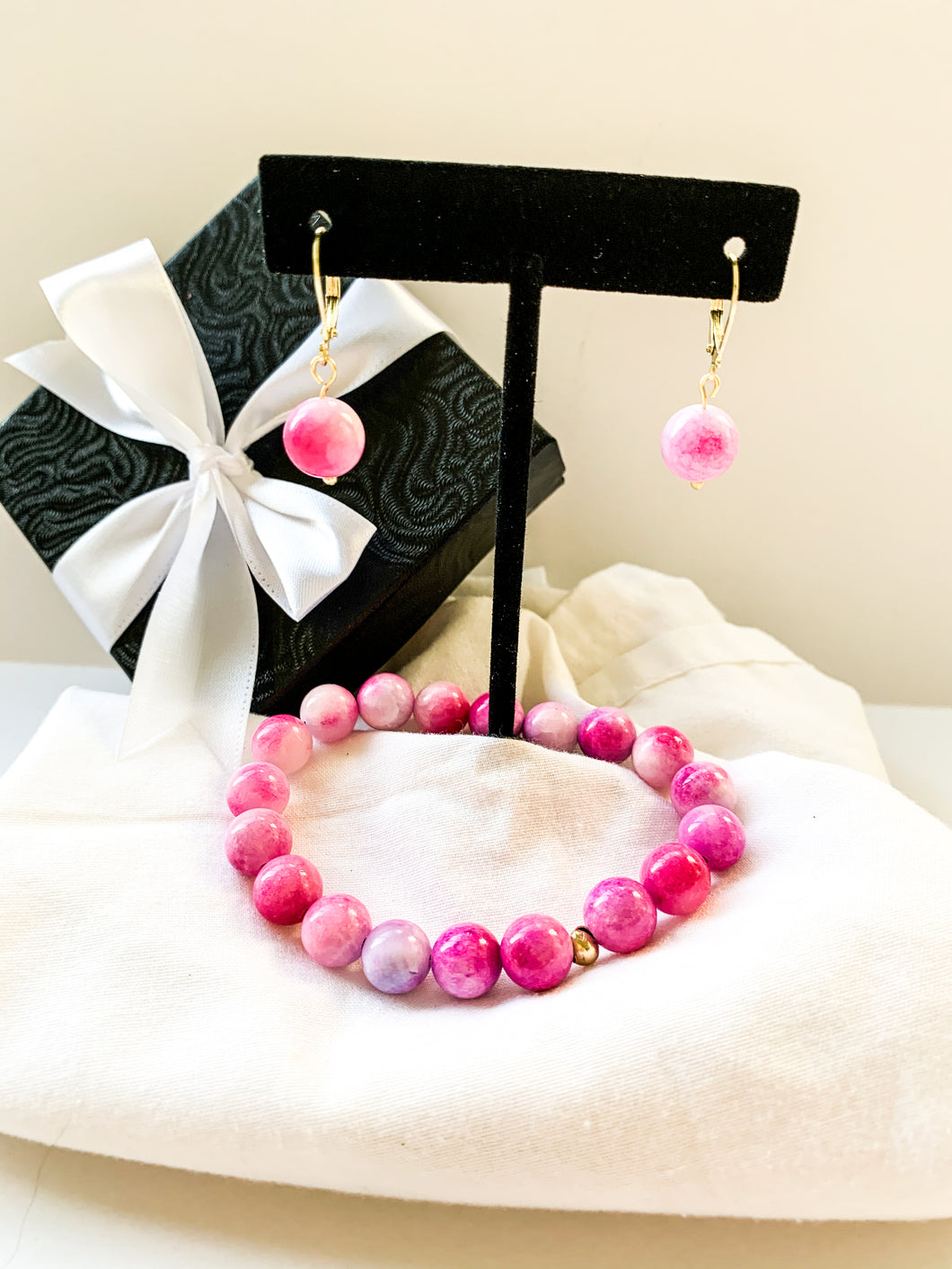 Bright Pink Jade Mothers Day Set