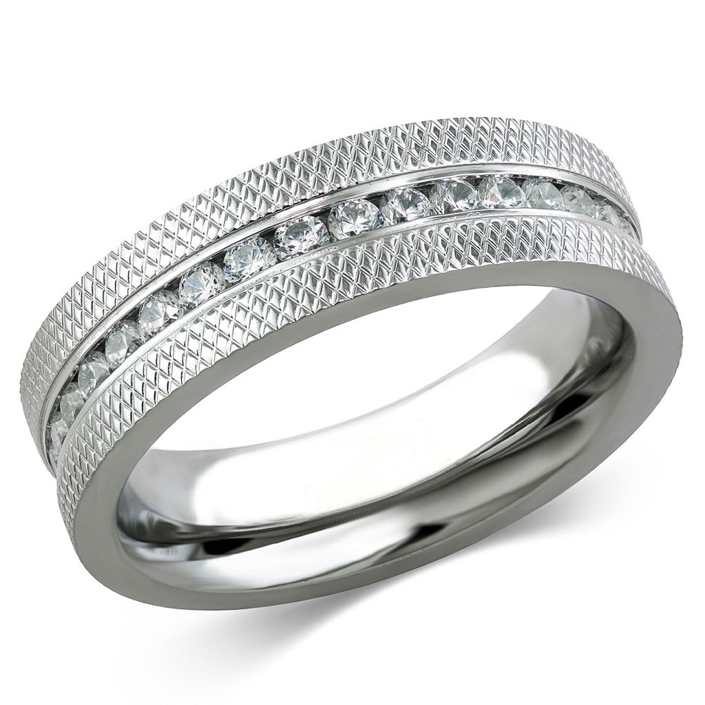 Cz Wedding Rings | His Hers Stainless Steel 1 85 Ct Cz Bridal Set Men S Eternity
