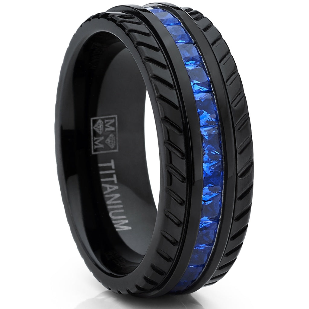 wood mens jewelry tire tungsten ring black fj inlay wry wedding bling band rings