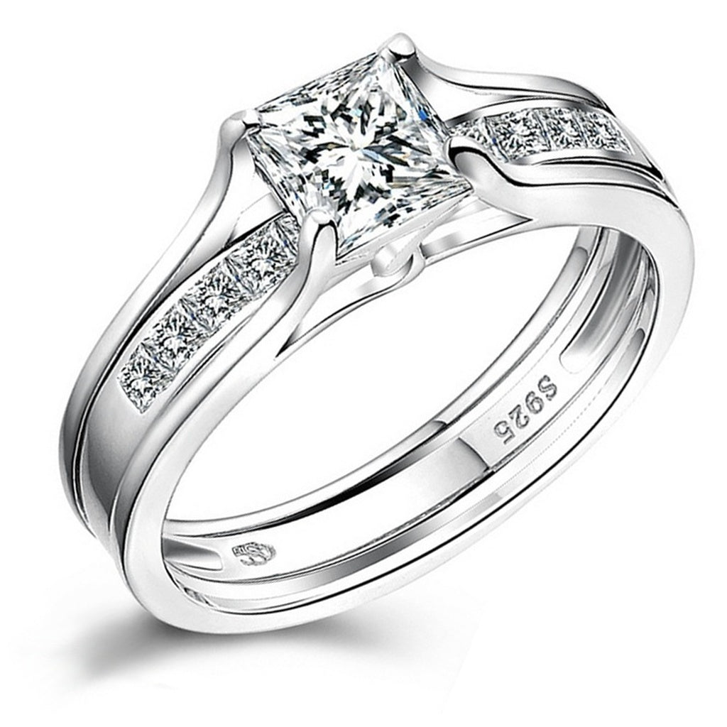 vancouver pavee tapered ring sets rings solitaire diamond set bridal custom with engagement matching wedding