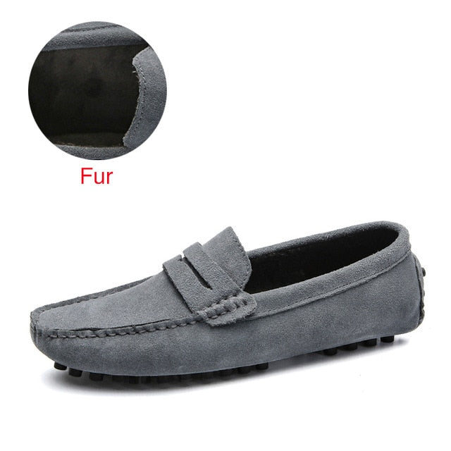 Soft Moccasins Men Loafers Genuine Leather Shoes Men Flats Gommino Driving Shoes,03 Navy,13