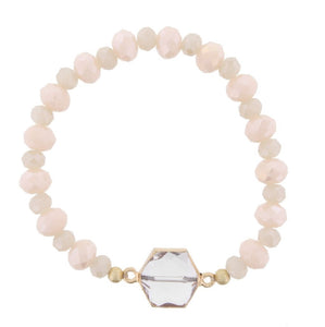 Champagne and Light Pink Alexa Bracelet