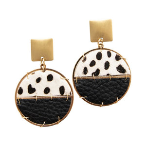 Sausalito Black Leopard Earrings