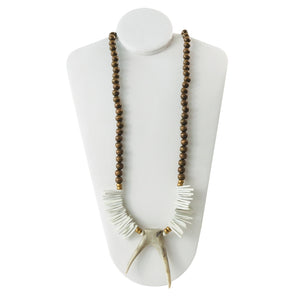 Brown and Ivory Statement Necklace