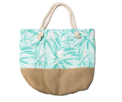 Mint Firework Floral Tote