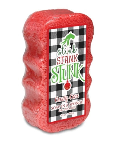 Caren The Grinch Themed Holiday Shower Sponge
