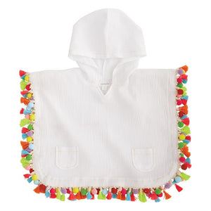 Toddler Girls Hooded Tassel Swimsuit Cover Up