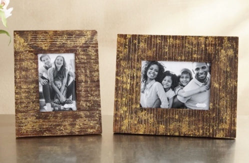 Wood And Gold Foil 5x7 Frame
